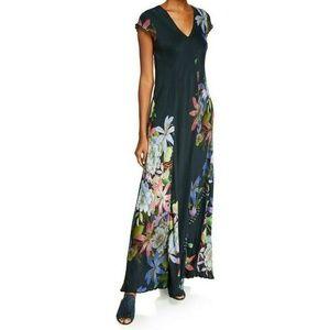 Johnny Was Layla Floral Scarf Print Maxi Dress